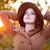 vrouw · hoed · jas · najaar · tijd · outdoor - stockfoto © Massonforstock