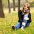 Portrait of girl with headphones at outdoor stock photo © Massonforstock