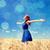 kız · bahar · moda · mavi - stok fotoğraf © massonforstock
