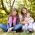 anya · lánygyermek · park · fiatal · család · visel - stock fotó © massonforstock