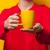 donna · Cup · isolato · bianco · alimentare - foto d'archivio © massonforstock