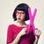 girl with big scissors stock photo © Massonforstock