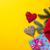формы · сердца · игрушками · Рождества · подарки · желтый · счастливым - Сток-фото © Massonforstock