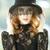 retrato · hermosa · niña · oscuro · componen · asombroso · estilo - foto stock © massonforstock