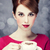 redhead girl with coffee cup st valentine day stock photo © massonforstock
