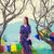 若い女性 · 仏教 · 寺 · 徒歩 · 木 · 女性 - ストックフォト © massonforstock