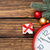 Gift box and clock with christmas baubles  stock photo © Massonforstock