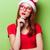 moda · kız · gri · elbise · şapka · portre - stok fotoğraf © massonforstock