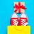 grande · rojo · fresco · bolsa · de · la · compra · maravilloso · amarillo - foto stock © massonforstock