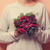 female holding a christmas bouquet stock photo © massonforstock
