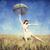 傘 · 麦畑 · ファッション · 自然 · 夏 · 風 - ストックフォト © massonforstock