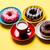tasty glazed donuts and cup of coffee on plates on the wonderful stock photo © massonforstock