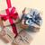 rojo · punteado · cinta · hermosa · regalos · maravilloso - foto stock © massonforstock