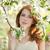 подростка · девушка · Blossom · дерево · цветы · весны · трава - Сток-фото © Massonforstock