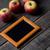 fraîches · organique · rouge · pommes · noir · cadre - photo stock © massonforstock