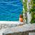 grego · ilha · rua · flores · natureza · viajar - foto stock © massonforstock
