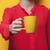 foto · taza · café · maravilloso · amarillo · vidrio - foto stock © massonforstock