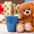 teddy bear with cup of coffee or tea stock photo © massonforstock