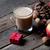 noix · pommes · rustique · bois · bois - photo stock © massonforstock