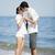belo · casal · beijando · praia · menina · feliz - foto stock © Massonforstock