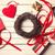 óra · piros · szív · idő · szeretet - stock fotó © massonforstock