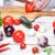 şef · kırmızı · domates · mutfak · eller - stok fotoğraf © master1305