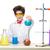 mały · chłopca · chemik · eksperyment · chemicznych · płyn - zdjęcia stock © master1305