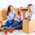 gelukkig · gezin · reparatie · laptop · familie · huis · bouw - stockfoto © master1305