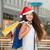 bastante · menina · vermelho · natal · seis · colorido - foto stock © master1305