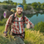 молодые · кавказский · человека · рюкзак · ходьбе · зеленый - Сток-фото © master1305