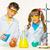 chimie · leçon · fille · homme · école · paysage - photo stock © master1305