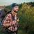 fiatal · kaukázusi · férfi · hátizsák · sétál · felső - stock fotó © master1305