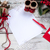 vel · papier · houten · tafel · pen · christmas · decoraties - stockfoto © master1305