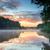 arbre · matin · étang · soleil · eau · printemps - photo stock © master1305