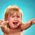 ritratto · bambina · piangere · blu · acqua · ragazza - foto d'archivio © master1305