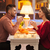 portrait of romantic couple at valentines day dinner stock photo © master1305