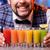 glimlachend · barman · drinken · bar · counter · shirt - stockfoto © master1305