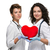 cardiologue · rouge · coeur · médicaux · femme · hôpital - photo stock © master1305