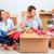 szczęśliwą · rodzinę · naprawy · rodziny · posiedzenia · rzeczy · na · zewnątrz - zdjęcia stock © master1305