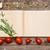 open · ricetta · libro · rosolare · legno · pomodori - foto d'archivio © master1305