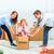 счастливая · семья · ремонта · семьи · жилье · коробки · дома - Сток-фото © master1305