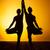 йога · медитации · люди · закат · силуэта - Сток-фото © master1305
