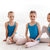three little ballet girls sitting and posing together stock photo © master1305