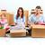 mutlu · aile · tamir · aile · oturma · kutuları · işler - stok fotoğraf © master1305