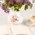 té · limón · ramo · lila · mesa · abierto - foto stock © master1305