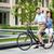 oturma · bisiklet · karşı · şehir · bacaklar - stok fotoğraf © master1305