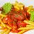 kerrie · ketchup · saus · worstjes - stockfoto © master1305