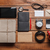 mens accessories on the wooden table stock photo © master1305