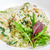 risotto with smoked meat spinach parmesan cheese stock photo © master1305