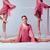 nyújtás · bár · három · fiatal · rózsaszín · ruhák - stock fotó © master1305